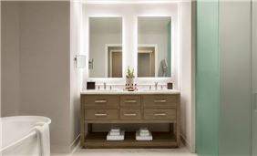Center Master Bathroom