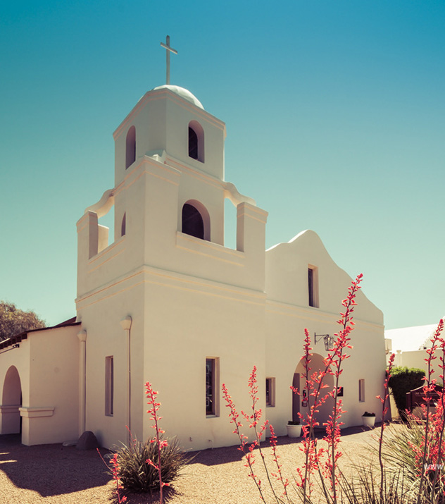 Old Adobe Mission at Scottsdale ,Arizona