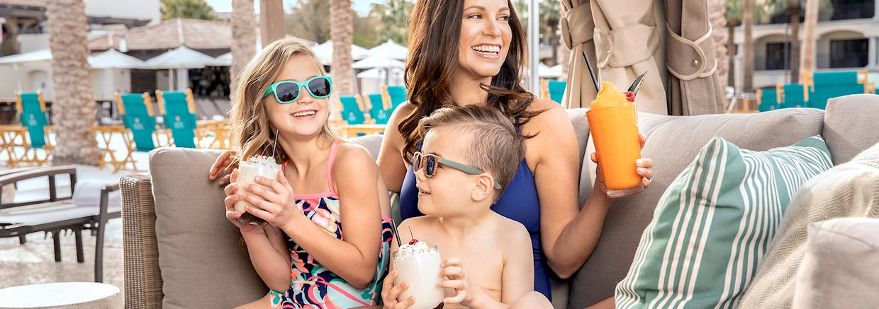 Fun with kids at Poolside at Fairmont Scottsdale Princess, Arizona