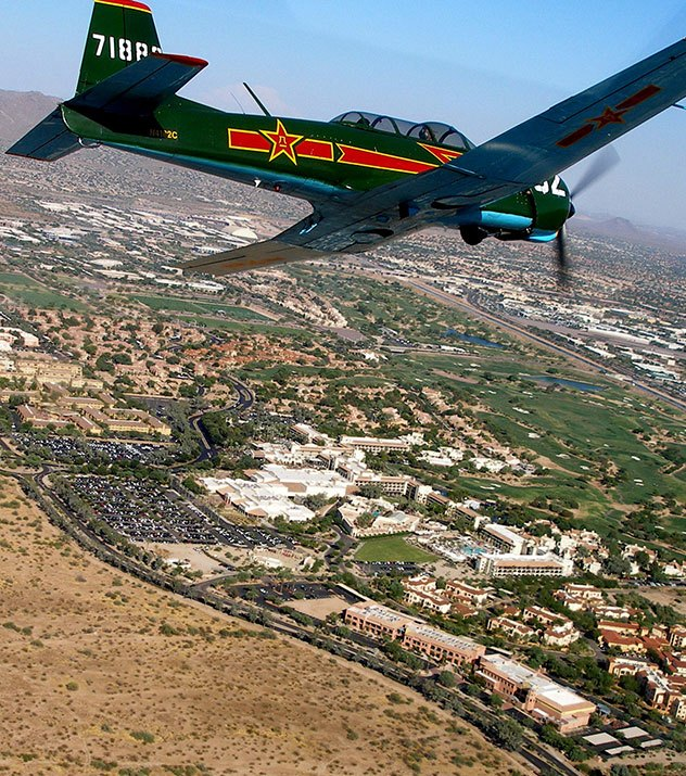 Saluting Real-Life Heroes & Vintage Air Show in Scottsdale Resort, Arizona