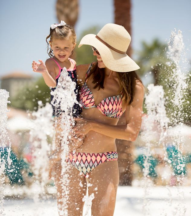 Splash Pad and Pools at Fairmont Scottsdale Princess Resort in Arizona